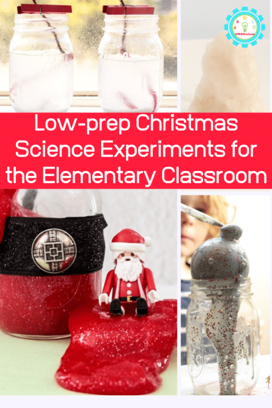low-prep christmas science experiments