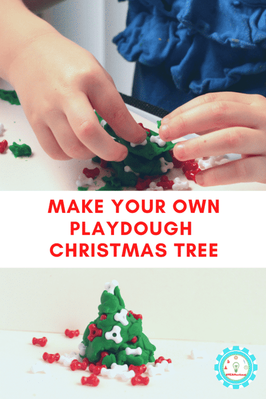 If you love Christmas, then you'll love this play doh Christmas tree! It's so festive and fun even for the youngest Christmas lovers!