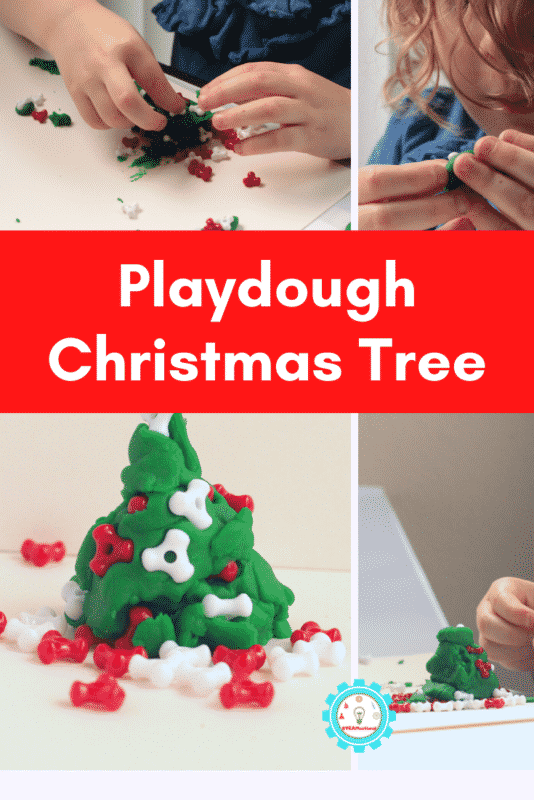 play dough christmas tree
