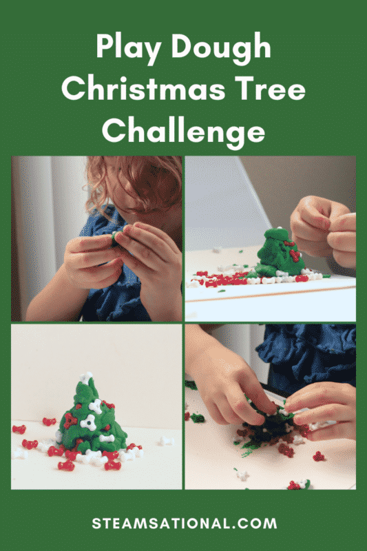 play dough christmas tree challenge