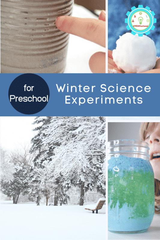 winter science experiments for preschool