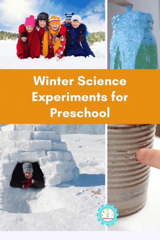 winter science experiments for preschoolers