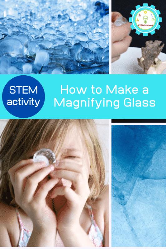 DIY magnifying glass