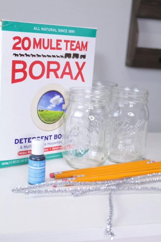 borax crystal growing chemicals