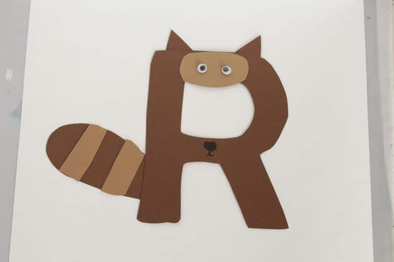 r is for racoon craft