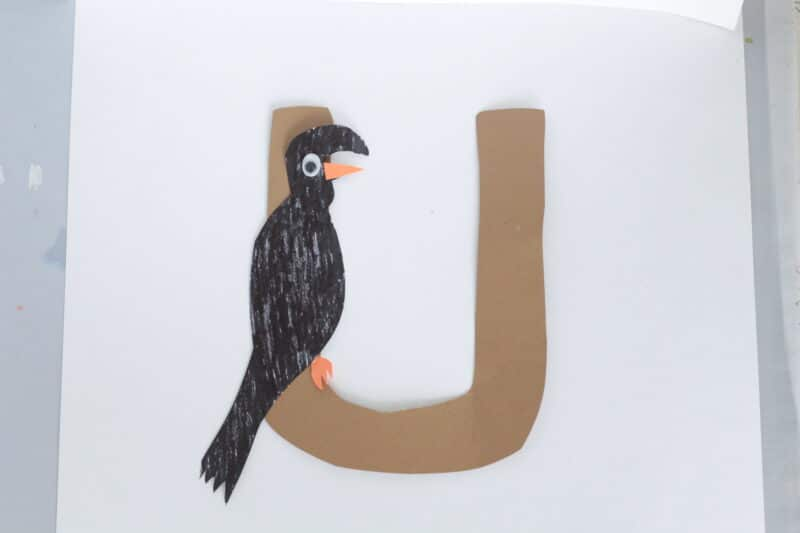 u is for umbrella bird craft