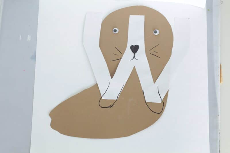 w is for walrus craft