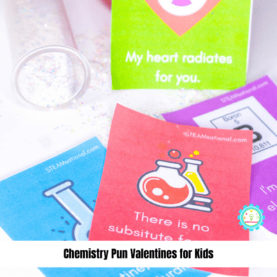 Printable Chemistry Valentine's Day Puns