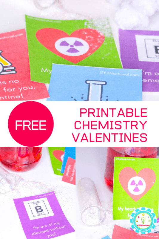 If you're looking for printable chemistry valentines puns, you've come to the right place. These chemistry valentines for kids are adorable and free!
