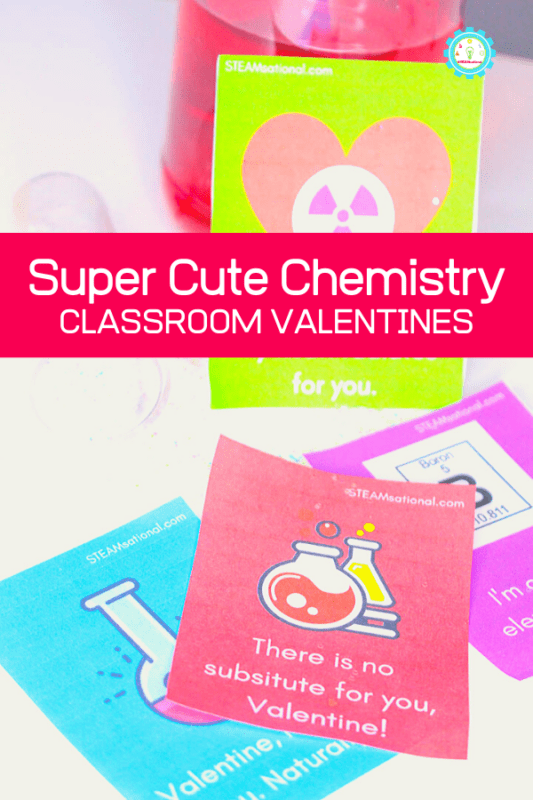 chemistry valentines for kids