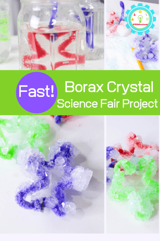 Nothing says classic science experiments for kids like crystal science projects. Follow along with this tutorial to learn how to conduct your own borax crystals science project!