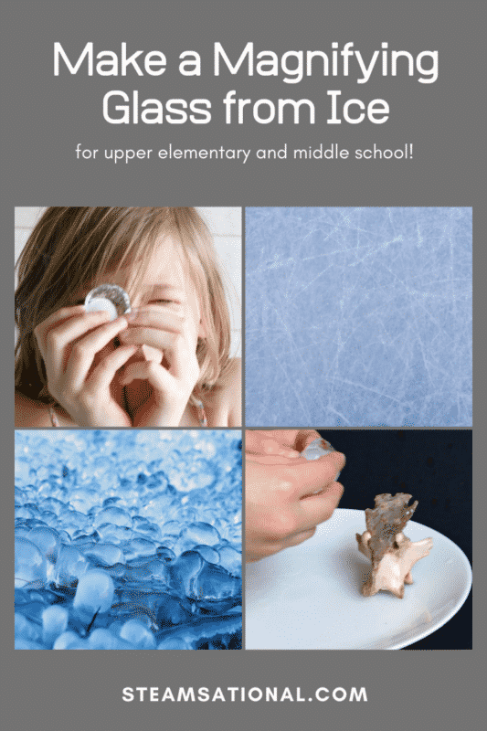 ice magnifying glass stem activity