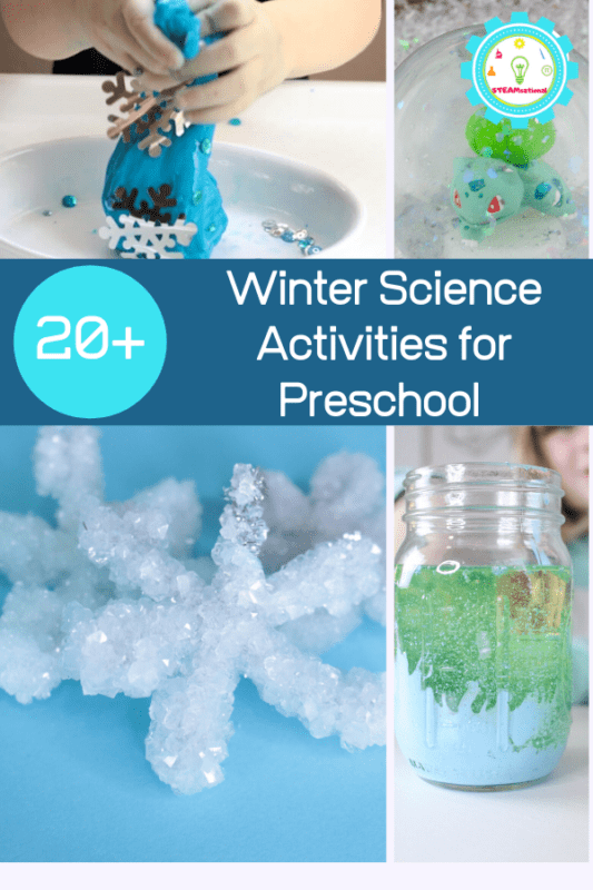 If you love winter, try these fun winter science experiments for preschool! Preschoolers will love these winter science activities for preschool.