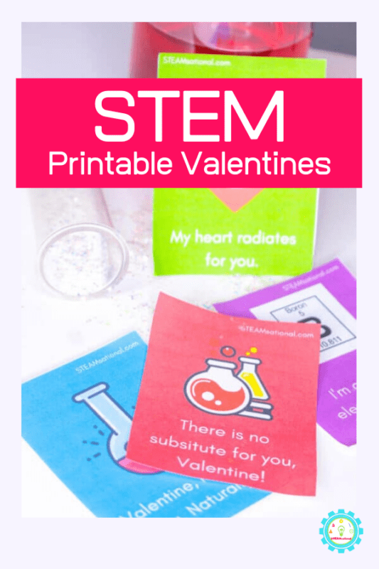 stem themed printable valentines