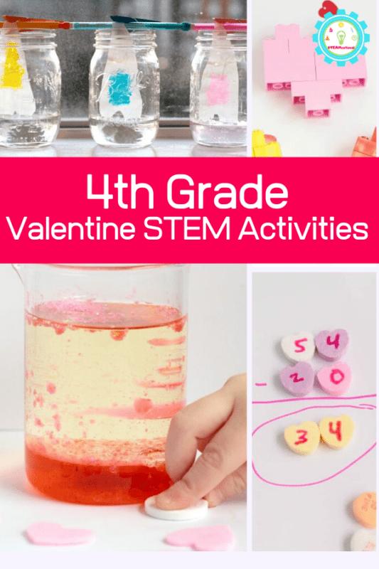 valentine stem for 4th grade