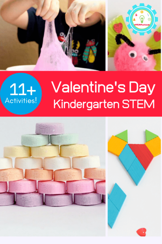 Here you'll find a list of our favorite Valentine's Day STEM activities for kindergarten. Choose a few to do this February in the classroom or at home!