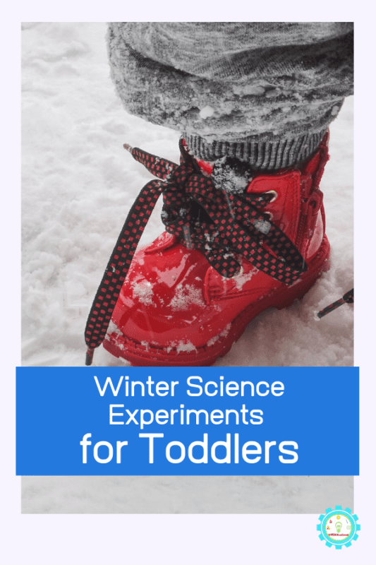Can toddlers do science? These winter science experiments for toddlers are the perfect introduction to toddler science activities! #toddleractivities #stemed #stemactivities #scienceexperiments