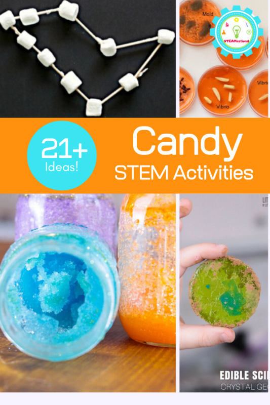 If you are looking for a fun learning activity that incorporates sweets, you will love these candy STEM activities.