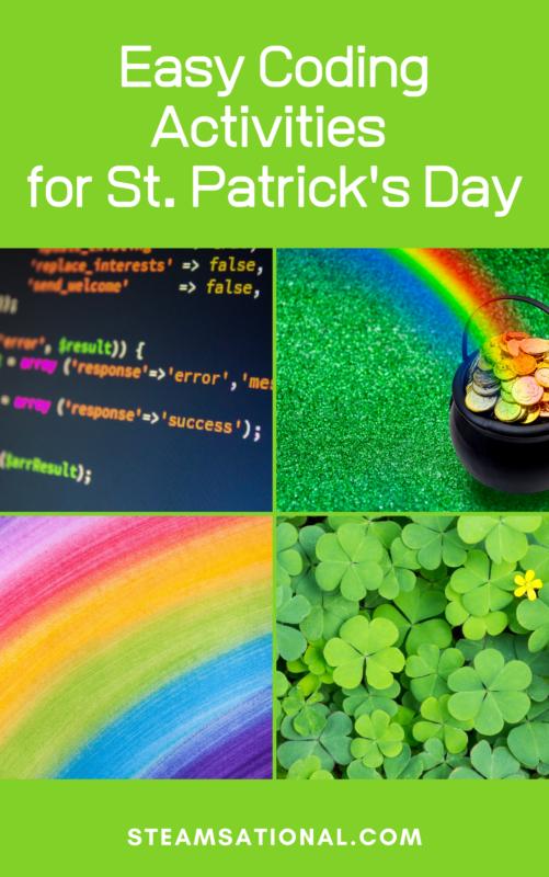 easy coding activities st patricks day