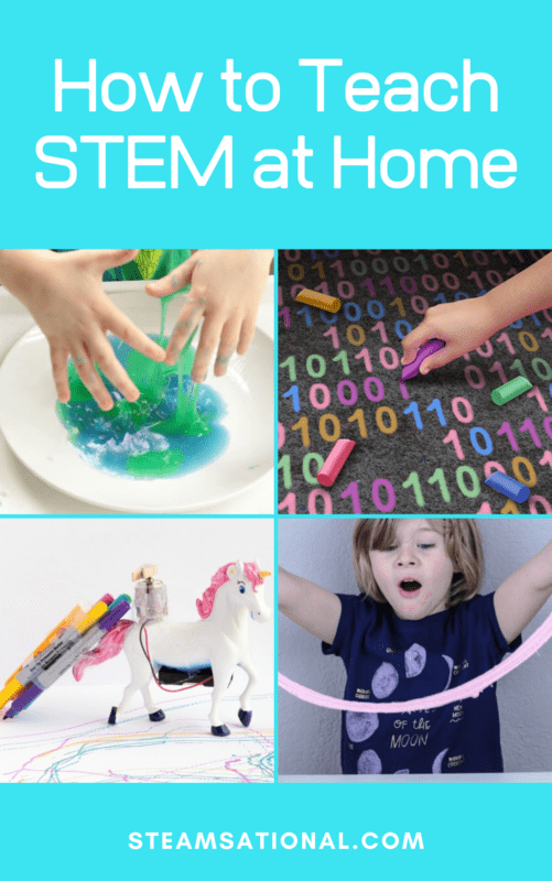 If you're a parent who is interested in adding STEM activities to your home, there is no need to be afraid or worried that you can't do it. Anyone can teach a STEM lesson at home as long as you learn just a bit about STEM!