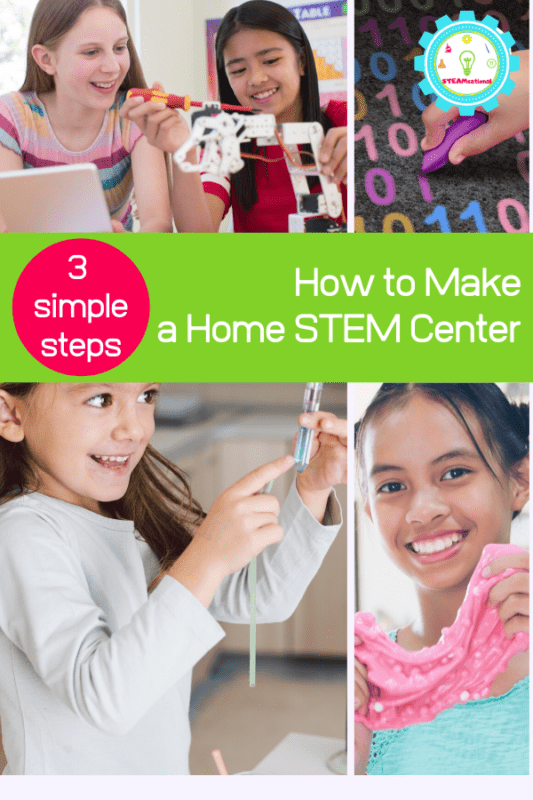 You can set up your own science center at home. Follow along with this guide on how to set up a STEM center at home.