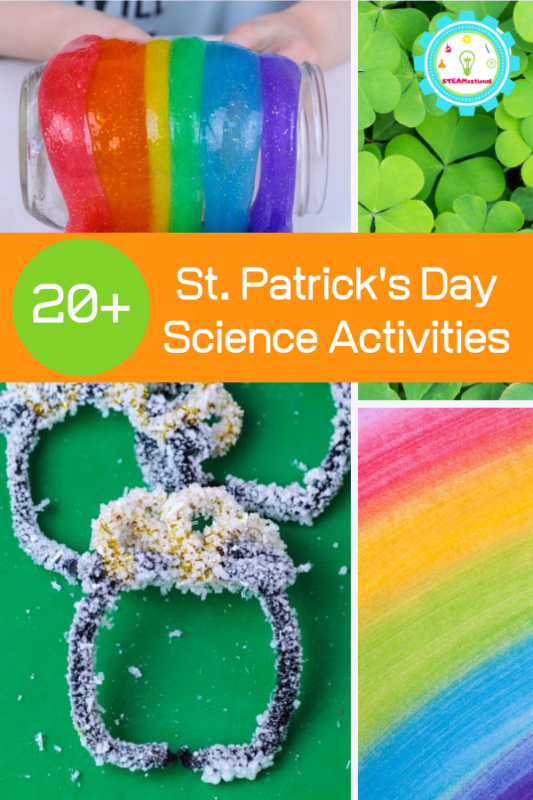 Add these St. Patrick's Day science experiments to your March calendar and have a blast with learning and science fun!