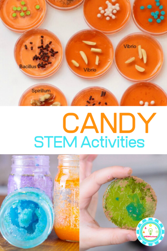 stem activities with candy