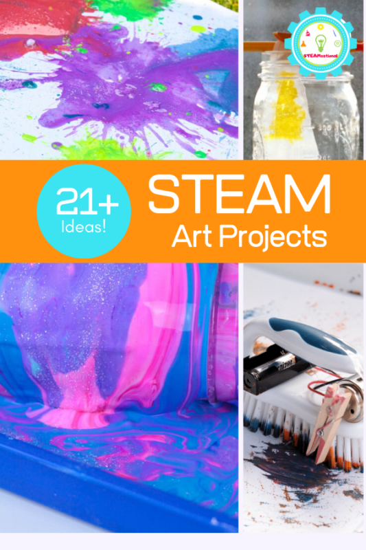 If you are looking for a really fun STEAM activity for your kids, you can't go wrong with something creative like these STEAM art activities!
