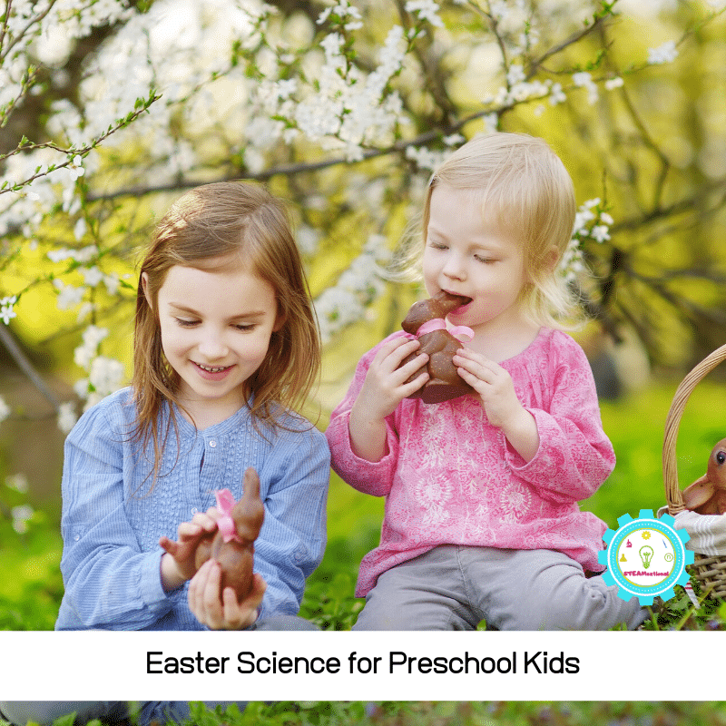 assroom is the perfect time to introduce the basics of science to kids. These easy Easter science activities for preschool bring science to life during the Easter season, and provide a fun way to teach science during March and April!