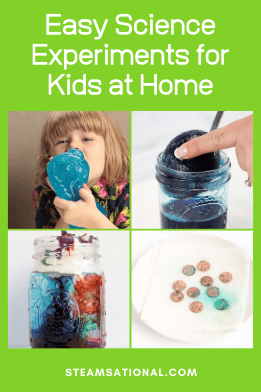These fun science experiments for kids at home don't require any weird supplies and you can do the at home science experiments with things you already have!