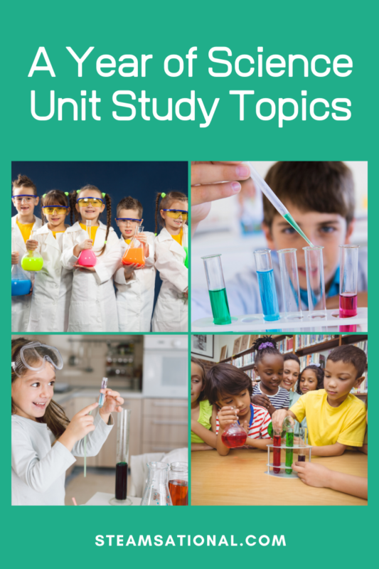 Science unit studies and STEM thematic unit ideas are a fun way to bring any learning topic to life. These science unit studies offer hundreds of STEM learning ideas!