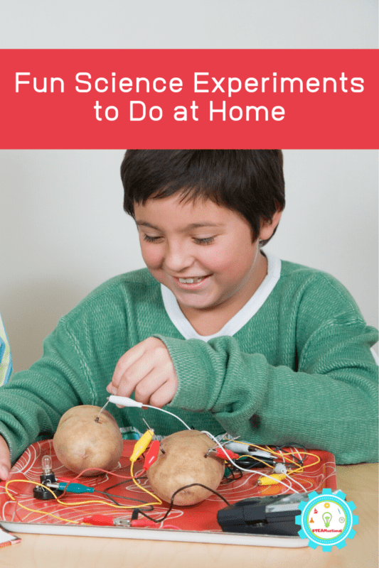 experiments for kids at home