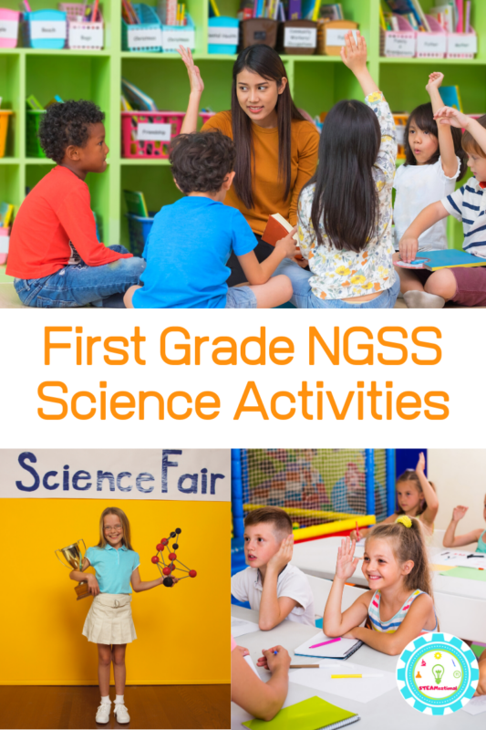 Wondering what activities you can do to meet the Next Generation Science Standards for first grade? Unpack the standards and find simple NGSS experiments for first grade here!