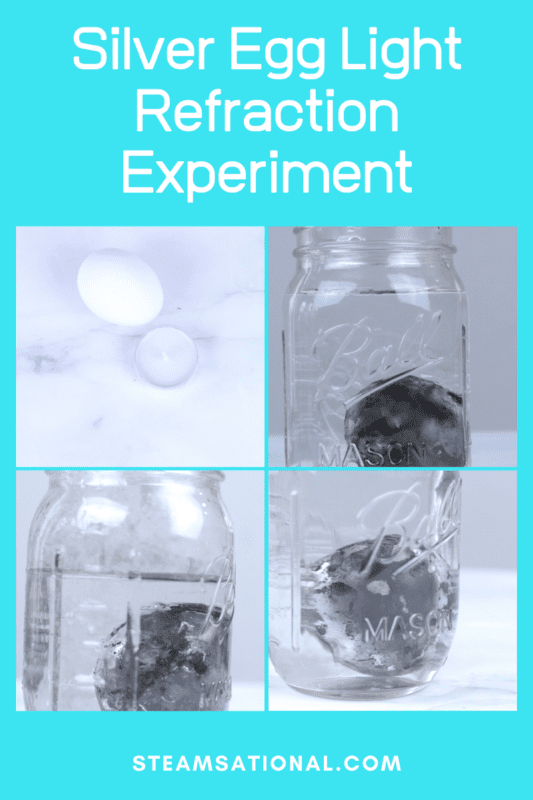 Have you seen the silver egg science experiment? In this experiment, you can transform a black egg into a silver egg, all with the amazing tool of light refraction.
