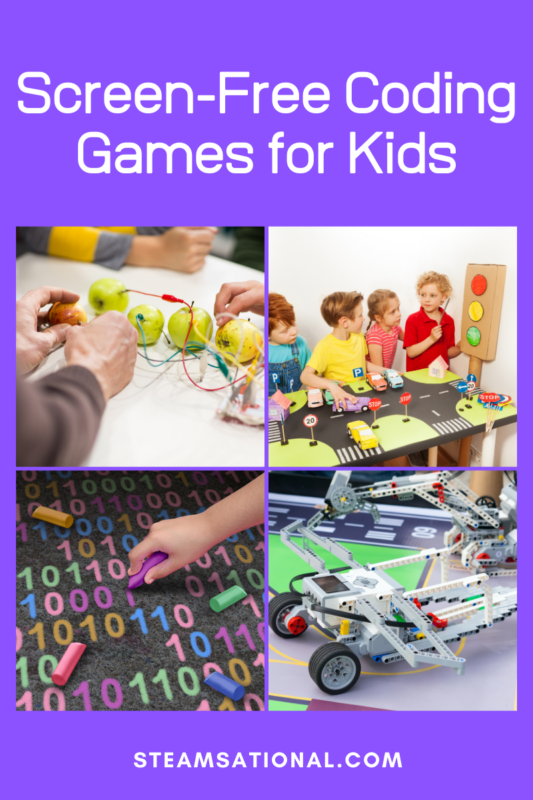 If your kids are interested in coding, or you want to develop a love of coding in your kids, try this list of screen-free coding games for kids!