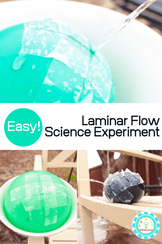 In the laminar flow experiment, water appears to freeze when it's coming out of a balloon. Read on to learn how to do your own experiment with a balloon.