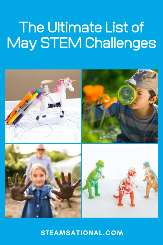 This list of May STEM activities is fun, engaging, and filled with outdoor activities. You don't have to be a STEM expert to do these May STEM projects!