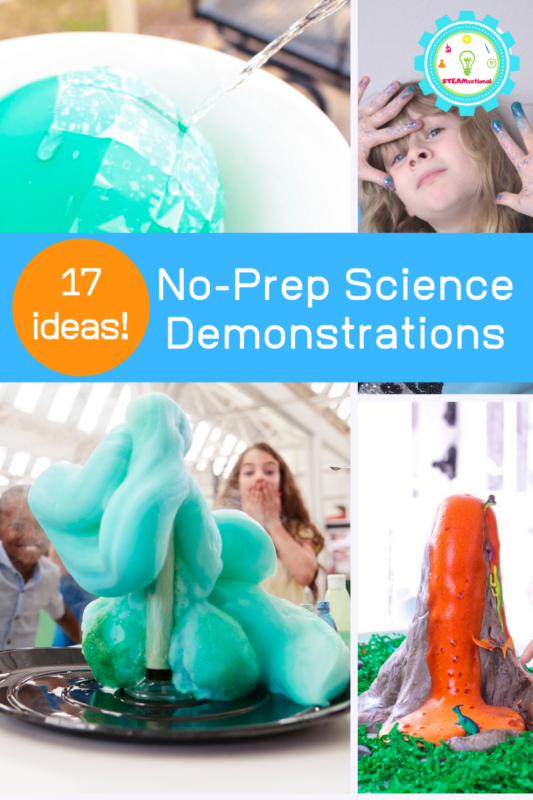 no prep science demonstrations
