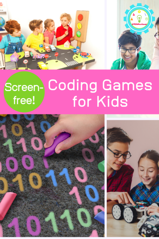 screen free coding games for kids