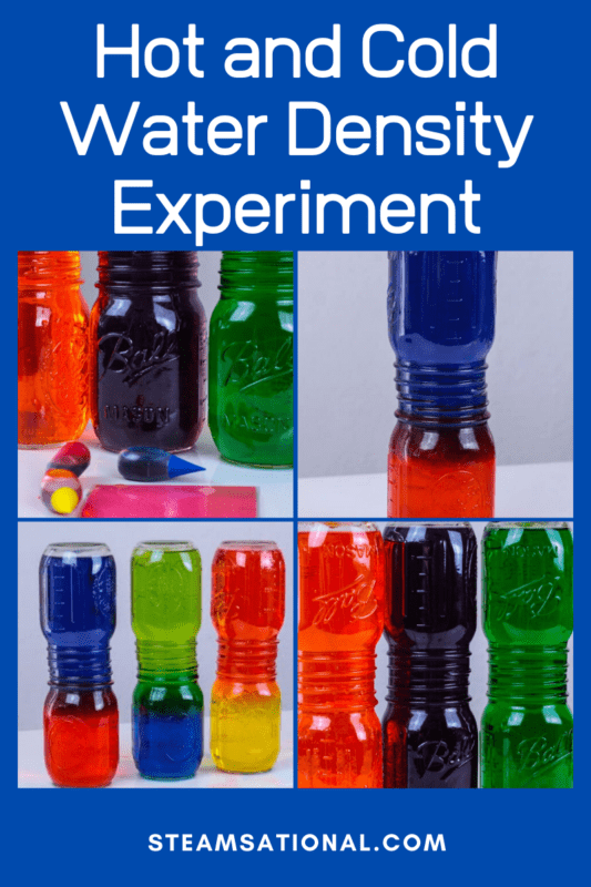 Learn about water density, energy, how molecules work, and more in this super fun and easy hot and cold water density science experiment! Kids will be delighted with how fun it is, and the bright colors will many any kid interested in science! It's the perfect STEM activity for the classroom or home.
