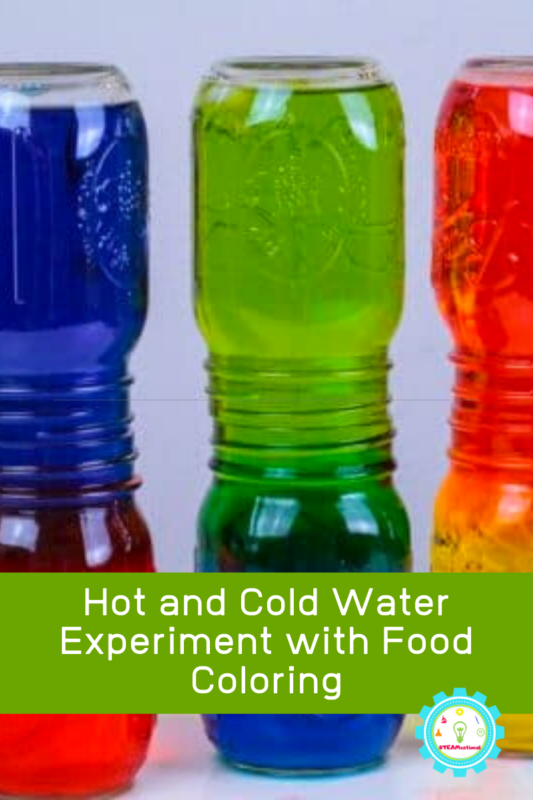 Hot and Cold Water Experiment with Food Coloring