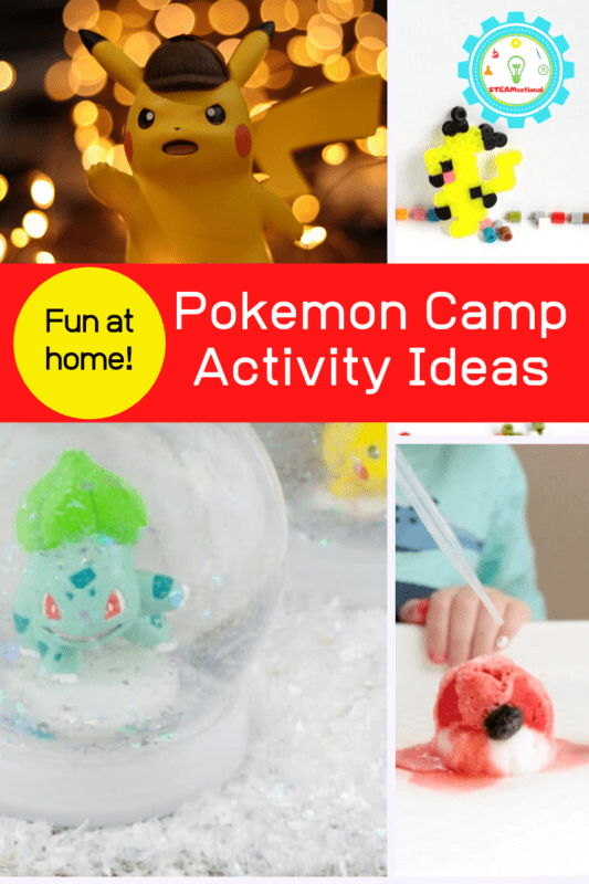 Use this list of Pokemon camp ideas to create a Pokemon summer camp! These Pokemon activities for kids are perfect for an at-home summer camp!