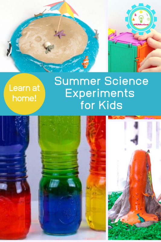 Summer science experiments are the perfect way to explore science during a summer at home.  Make learning fun with these summer science activities.