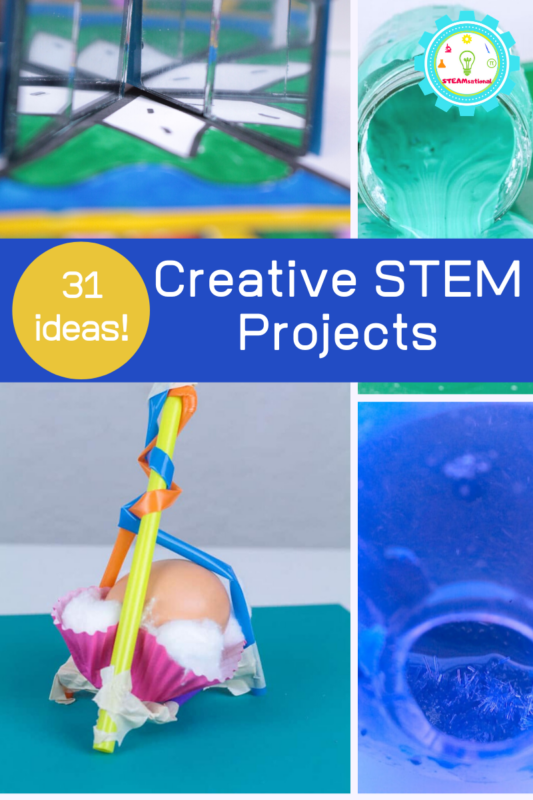 Looking for ideas for creative STEM activities for kids? Kids will have a blast with these 31 creative STEM projects and creative science activities!