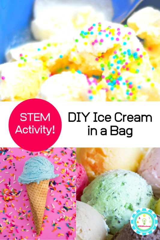 Summer and ice cream go hand in hand. But how about making ice cream in your hands? That's what the ice cream in a bag science experiment is all about!