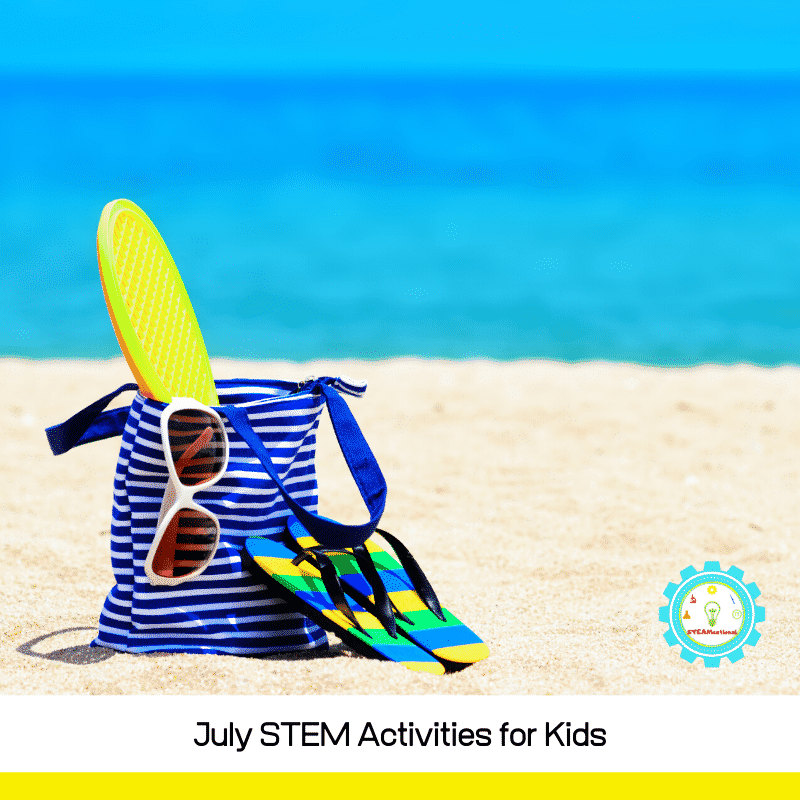 Kids been hitting the screens too hard? Try these July STEM activities and keep kids learning this summer! Summer STEM activities keep kids learning!