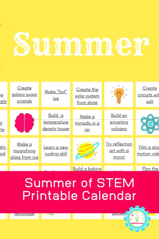 printable summer activity calendar