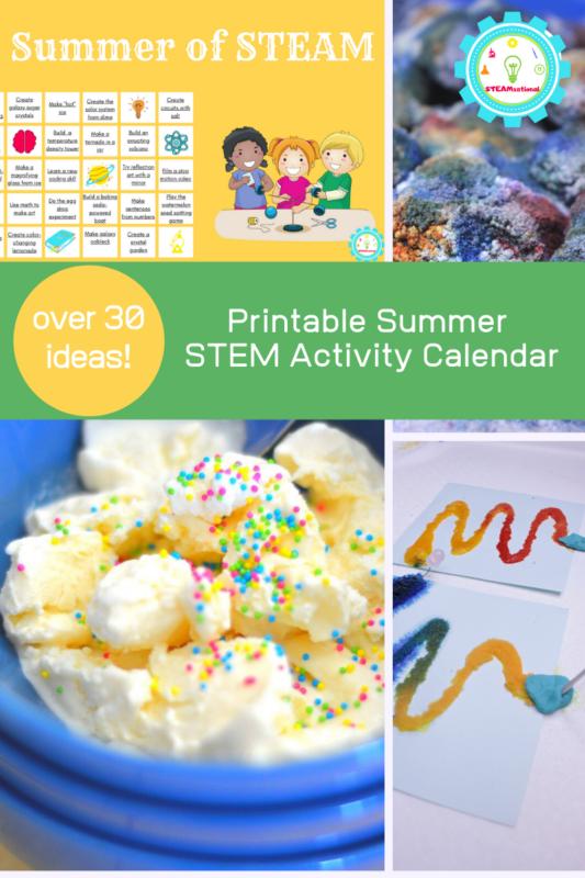 printable summer steam activity calendar