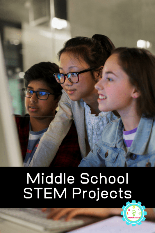 This list of middle school STEM activities are the perfect start to middle school STEM projects in the classroom or home. NGSS aligned!