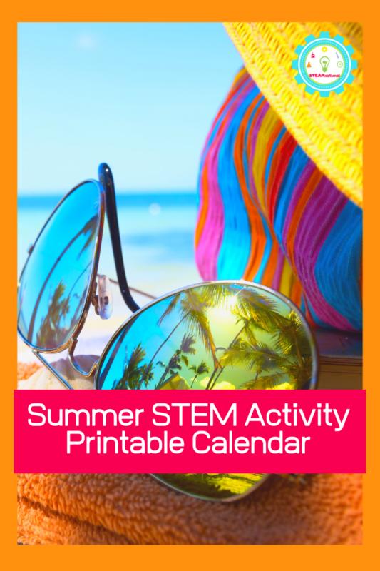 summer stem activity calendar